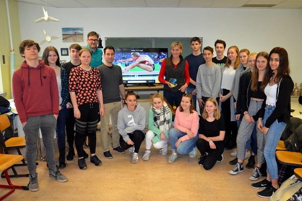 Olympiasiegerin Heike Drechsler zu Besuch an der GHS